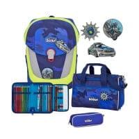 Scout Sunny II Schulranzen-Set 4tlg Blue Police