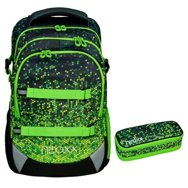 Neoxx Active Schulrucksack-Set 2tlg. Pixel in my mind