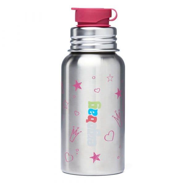 Ergobag PURA Edelstahl-Trinkflasche 0,5l Prinzessin