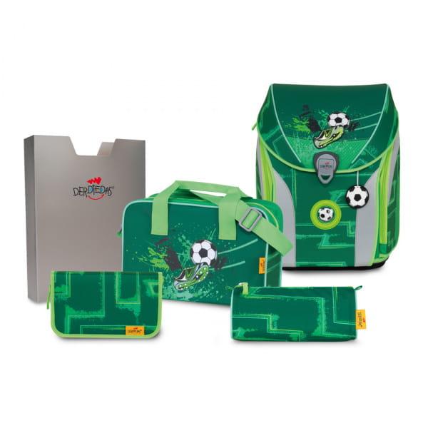 DerDieDas ErgoFlex Max Schulranzen-Set 5tlg Green Goal