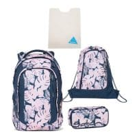 Satch Sleek Schulrucksack-Set 4tlg Botanic Blush