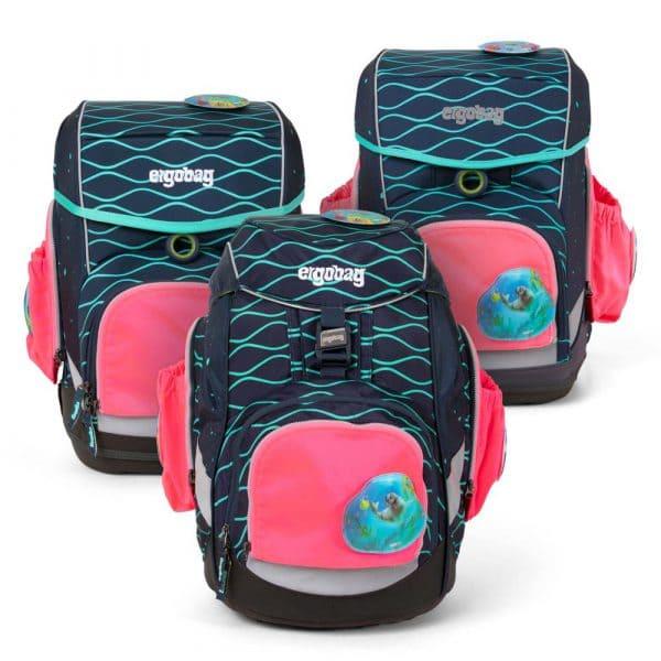 Ergobag Sicherheitsset mit Seitentaschen Pink
