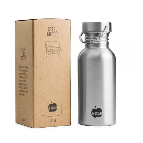 Brotzeit Trinkflasche 500ml aus Edelstahl