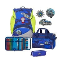 Scout Alpha Schulranzen-Set 4tlg Blue Police