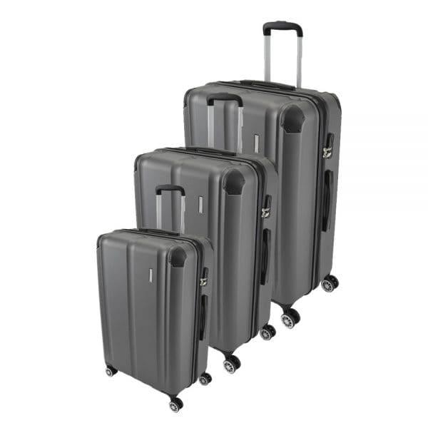 Travelite City 4-Rollen Trolley-Set 3tlg. S-M-L Anthrazit