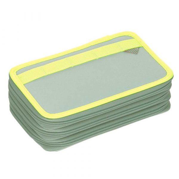 Accessoires - Lässig Unique 3 Fach Federmäppchen Blue Neon Yellow - Onlineshop Southbag