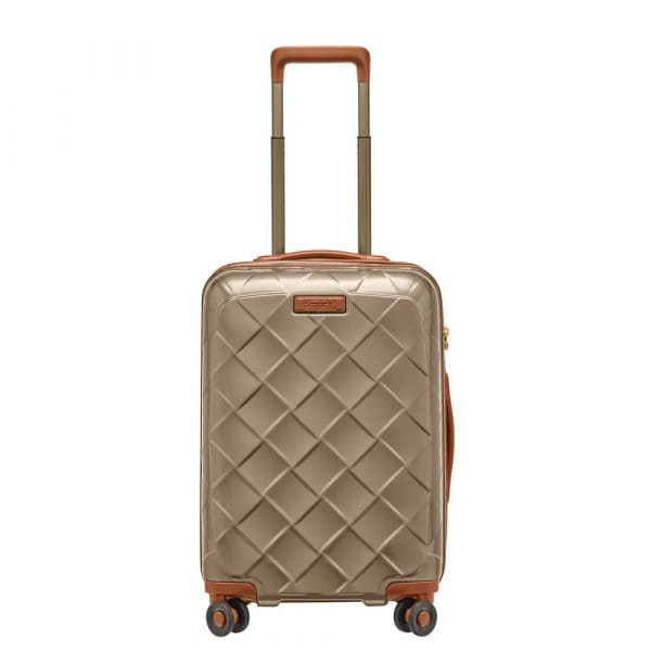 Stratic Leather and More 4-Rollen Trolley S 55 cm Champagner