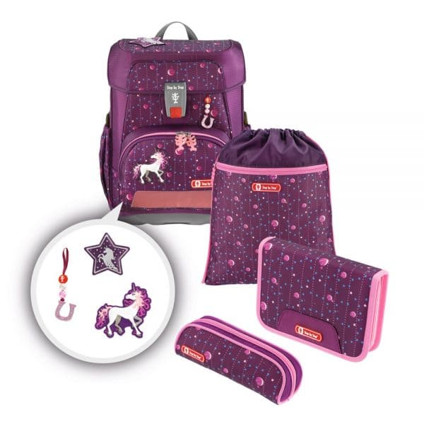 Step by Step CLOUD Schulranzen-Set 5tlg Dreamy Unicorn