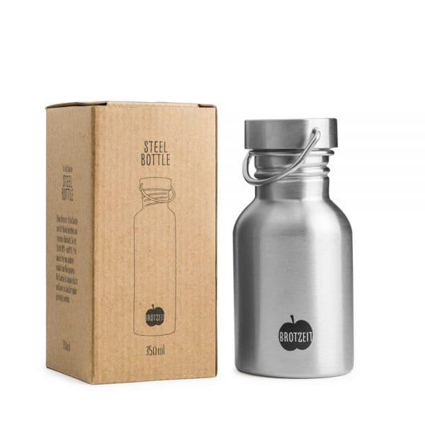 Brotzeit Trinkflasche 350ml aus Edelstahl