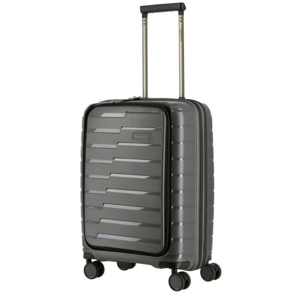 Travelite Air Base 4-Rollen Trolley S mit Vortasche 55 cm Anthrazit