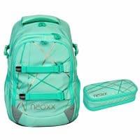 Neoxx Active Schulrucksack-Set 2tlg. Mint to Be