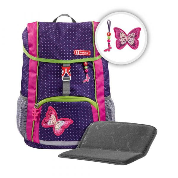Step by Step Kid Rucksack-Set 3tlg Shiny Butterfly