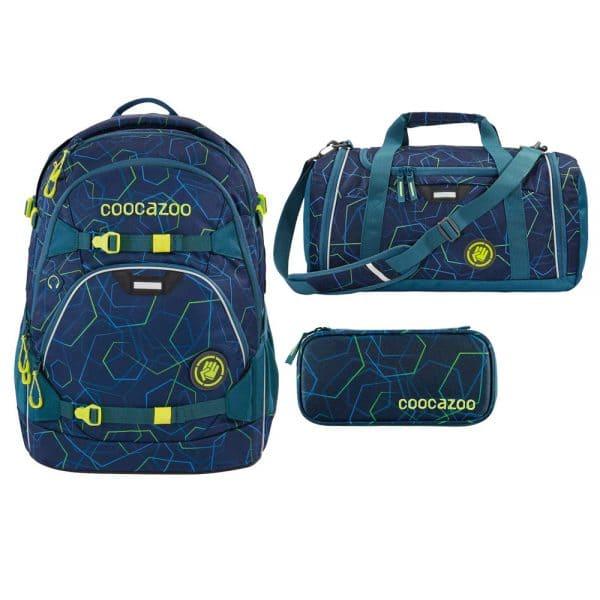 Coocazoo ScaleRale Schulrucksack-Set 3tlg Laserbeam Blue