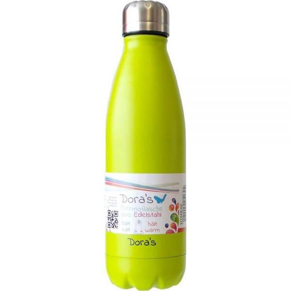 Doras Edelstahl Thermoflasche 500 ml Hellgrün 1