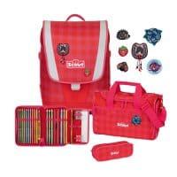Scout Ultra Schulranzen-Set 4tlg Red Gingham