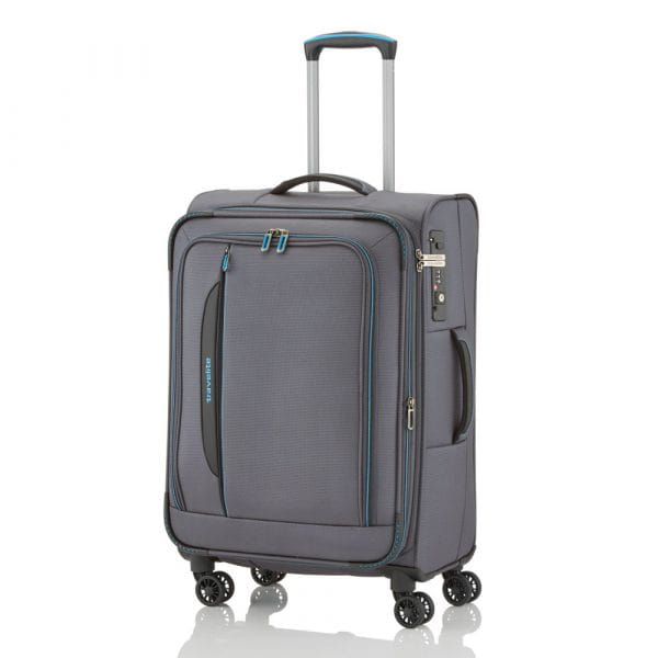 Travelite Crosslite 4-Rollen Trolley M 67 cm Anthrazit